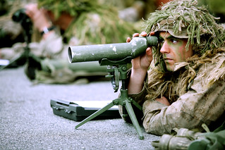 Snipers practices observation techniques
