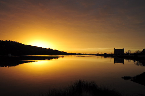 reflections sunsets tasmania tamarriver