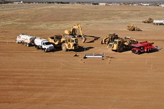 TSC breaks ground on new assembly hangar. Photo by Mike Mills