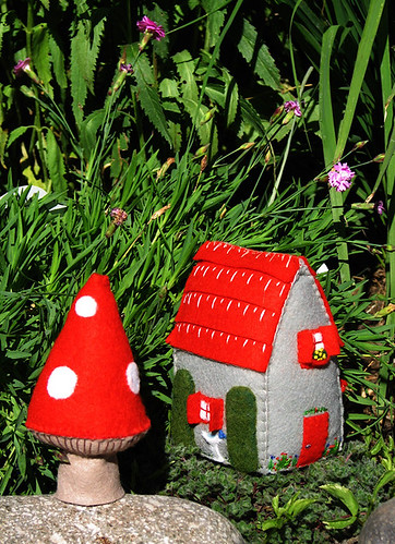 Red Roof House with Mushroom