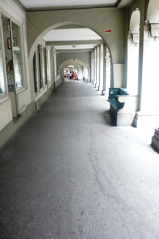 Covered pavements in Bern
