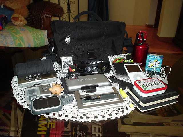 Timbuk2 Metro and Contents, Sony DSC-U30