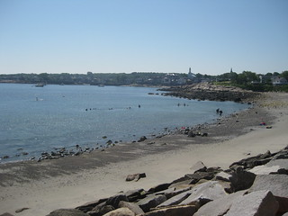 Image of  Front Beach. ocean water massachusetts shoreline beaches rockport 2010