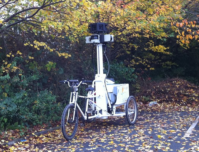 Google Street View trike on campus