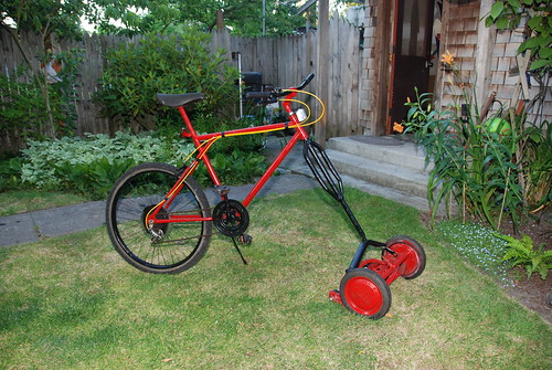 good ideas lawn mowing bicycle psystenance. Black Bedroom Furniture Sets. Home Design Ideas