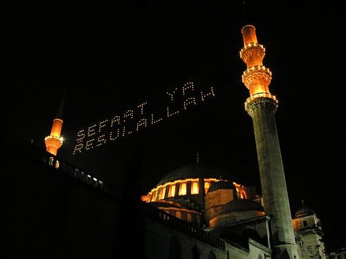 Ramadán (Ramazan) - világító feliratok (Mahyâ)