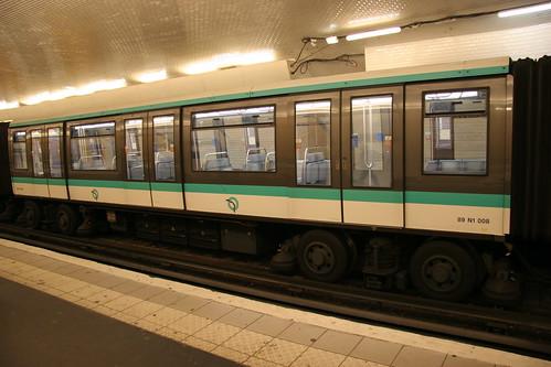 Subway at station Porte Maillot, Paris
