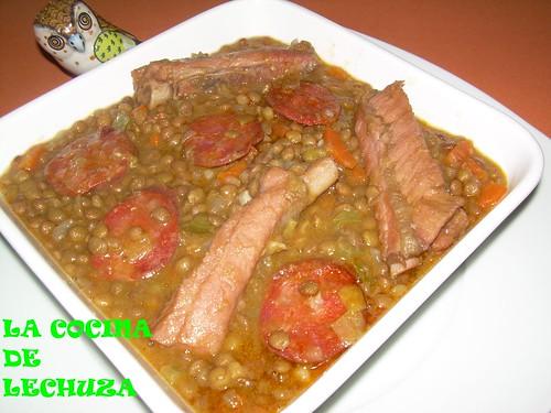 La cocina de lechuza recetas de cocina con fotos paso a paso lentejas con costilla y chorizo - Lentejas con costillas y patatas ...