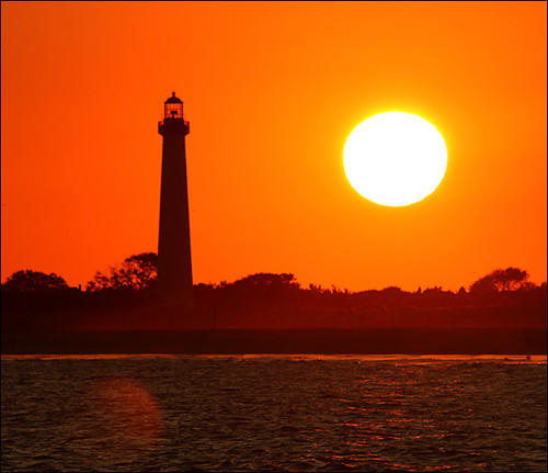 sunset sun lighthouse newjersey nj capemaypoint capemay jerseyshore fireball 2007 mywinners capemayx superbmasterpiece worldphotodoc2007