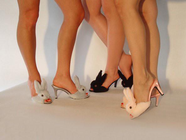Flickriver streetzie 39 s high heel bunny slippers 39 s most - Ladies bedroom slippers with heel ...
