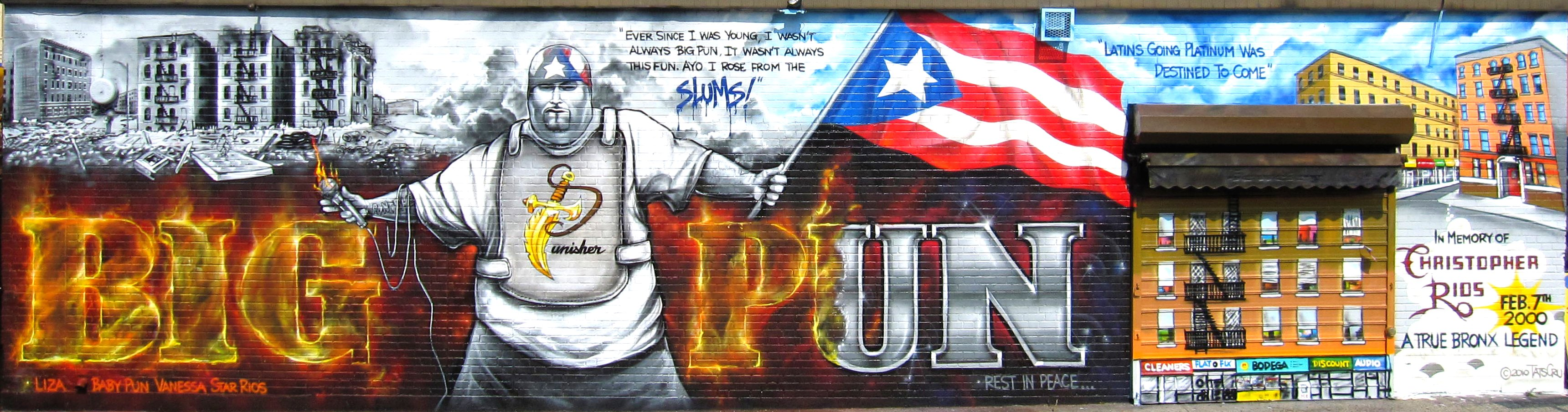 Big pun memorial wall flickr photo sharing for Big pun mural bronx