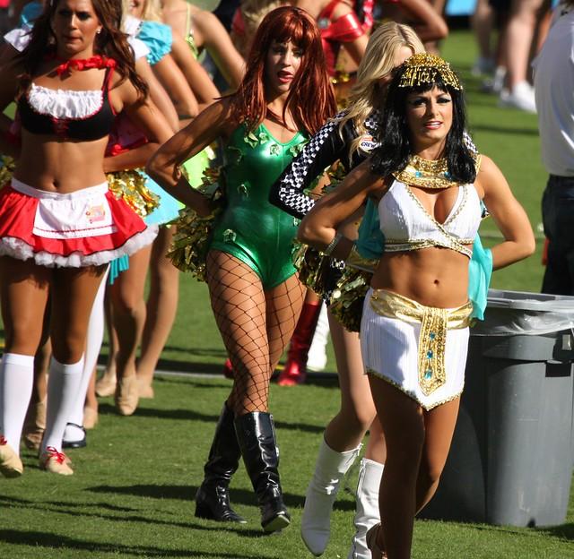 San Diego Charger Girls in Halloween costumes