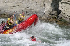 kayaking(0.0), whitewater kayaking(0.0), vehicle(1.0), sports(1.0), rapid(1.0), river(1.0), recreation(1.0), outdoor recreation(1.0), boating(1.0), extreme sport(1.0), water sport(1.0), boat(1.0), rafting(1.0),