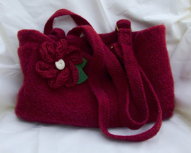 Felted Crochet : Crochet/felted Market bag Flickr - Photo Sharing!