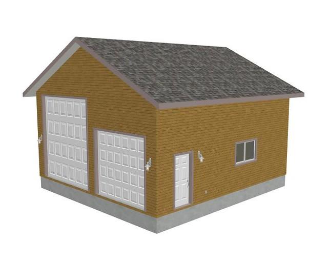 Rv garage plans g426 28 x 30 x 14 detached rv garage for 32 x 40 garage plans