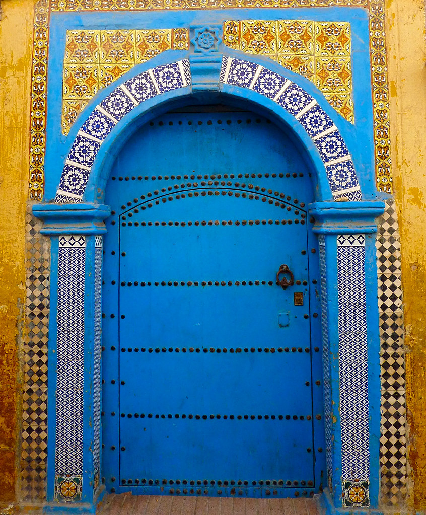 Door in Essaouira. Morocco.