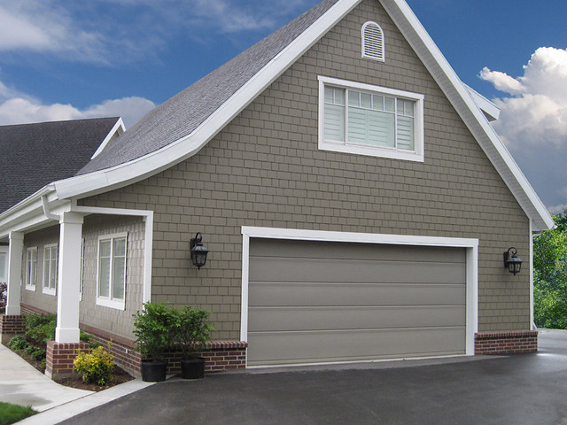 Garage Doors Flushline Stone Grey Finish