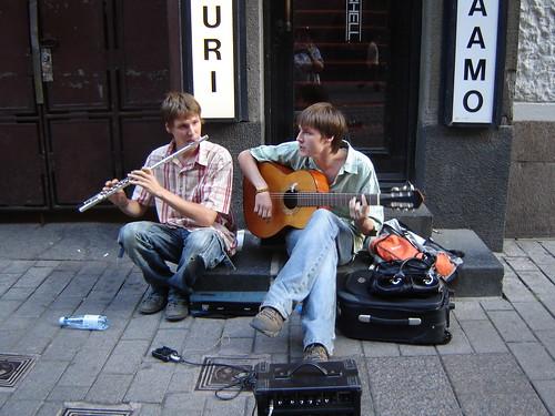 Street musicians in Helsinki
