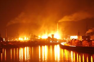 Steel industry on fire