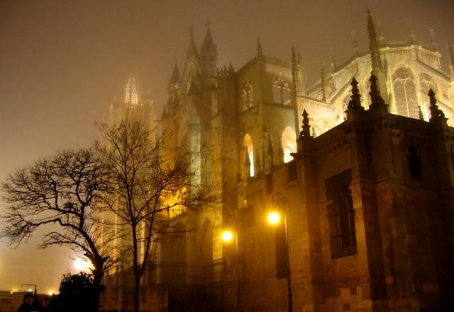 Catedral de León en invierno