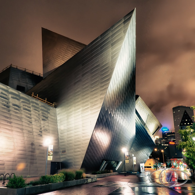Denver Art Museum: Denver Art Museum On Raining Morning