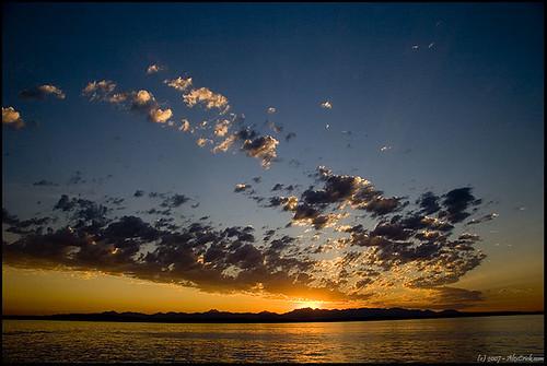 seattle blue sunset sky orange black 20d nature water beautiful dusk alki lunapark mountians naturesfinest penguinlust mywinners superhearts
