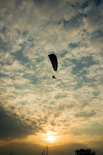 sky clouds sunrise texas katy aircraft paraglider