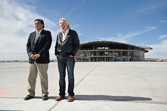 Governor Richardson and Sir Richard Branson. Photo by Jeffrey Vock