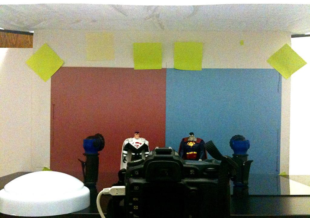 Justice Lords Superman vs. Bizarro Setup