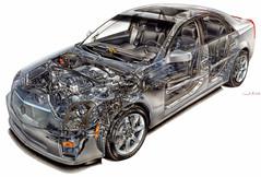 Cadillac CTS Cutaway