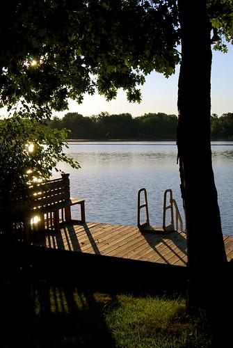 trees summer sunrise dock cabin nikon indiana lowell nikond40x d40x