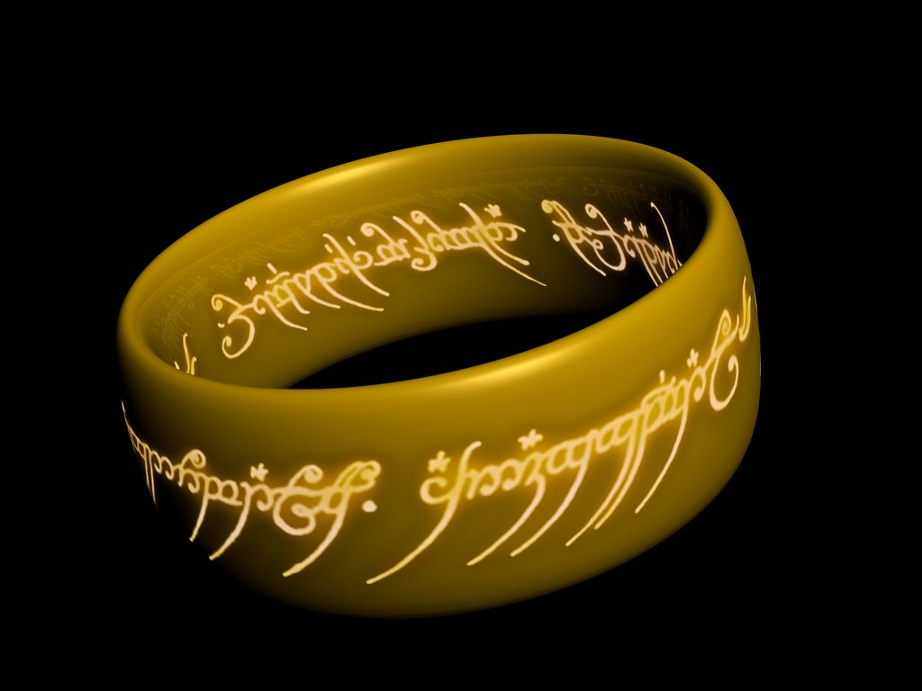 The One Ring Wallpaper 3 A 3d Model My Brother And I Creat