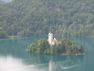 Island in Bled lake