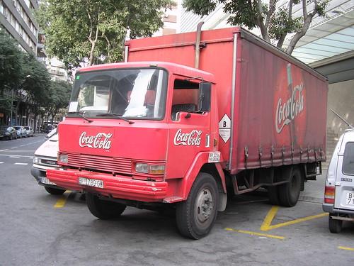 camió EBRO de COCA COLA a Barcelona