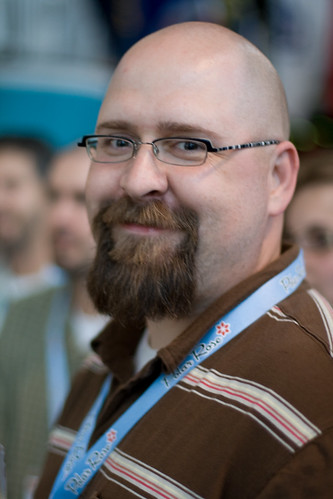My new official gnomedex head shot croncast by betsy for Randy stewart builder