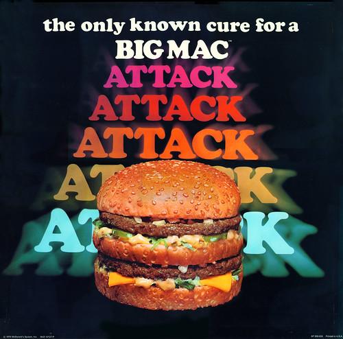McDonalds - Big Mac Attack translite - 1976