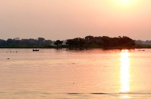A beautifully soft sunset over the River Paraguay