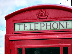 UK old-fashioned telephone box