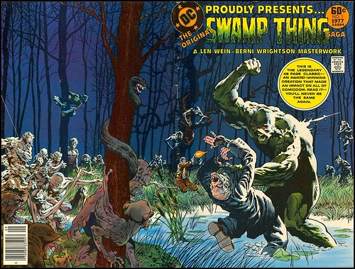 DC Special Series 1 1977 Swamp Thing wraparound cover by Berni Wrightson