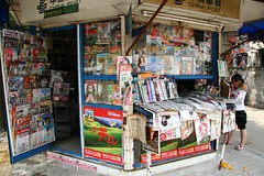 supermarket(0.0), convenience store(0.0), grocery store(0.0), shopping(1.0), bookselling(1.0), newsagent's shop(1.0), retail-store(1.0),
