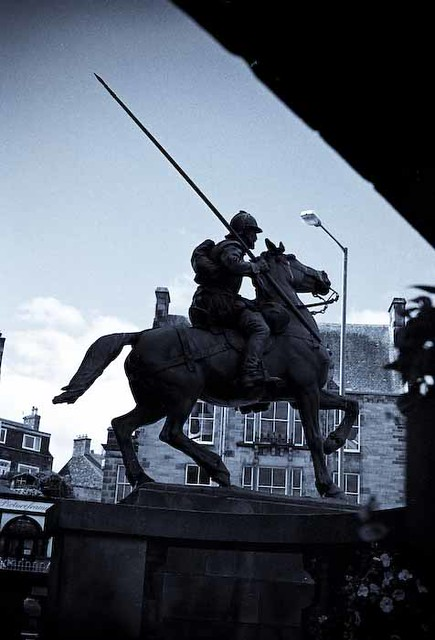 Border Reiver Statue, Galashiels, Scottish Borders