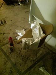 silver foil chair