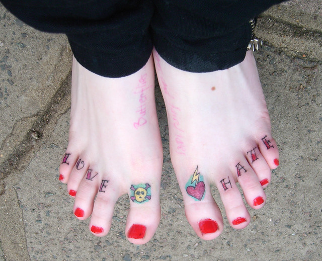 my toes love hate   Flickr - Photo Sharing!