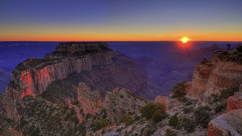 Wotan's Throne, Cape Royal, North Rim, Grand Canyon National Park, US.