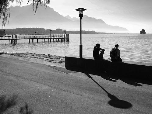 lake evening pier peace geneva lac peaceful calm quay serenity rest soirée léman quai villeneuve calme jetée repos sérénité débarcadère quiétude