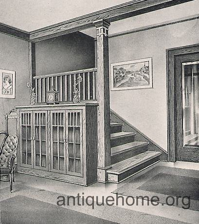 Universal Millwork 1920 Mission Style Entry Hall