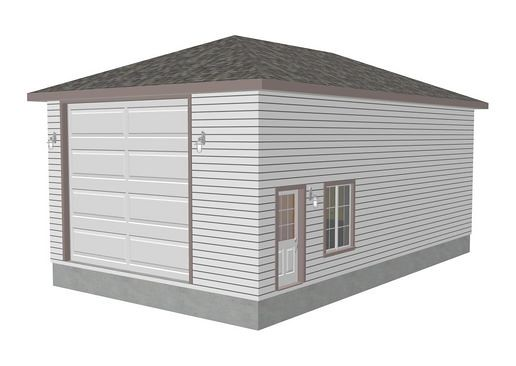 Download rv garage plans g272 22 x 38 x 14 hip roof rv for Hip roof garage plans