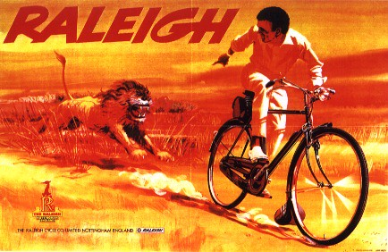 Vintage Raleigh Cycle Poster - Lion