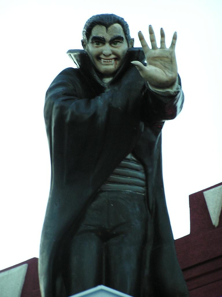 Dracula lives at Haunted Trails | Dracula stands guard at Ha