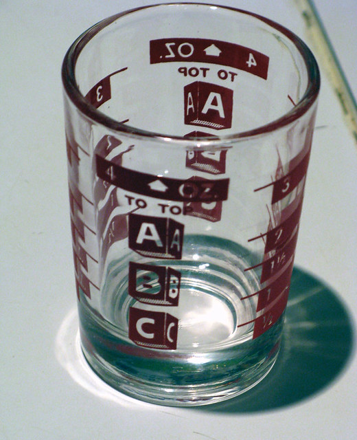 Vintage Silk Screen ABC 4 Oz. Shot Glass